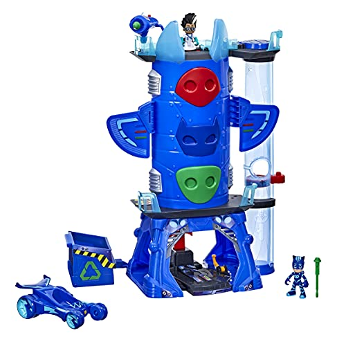 PJ Masks Deluxe Battle HQ Preschool Toy, Headquarters Playset with 2 Action Figures, Cat-Car Vehicle, and More for Kids Ages 3 and Up