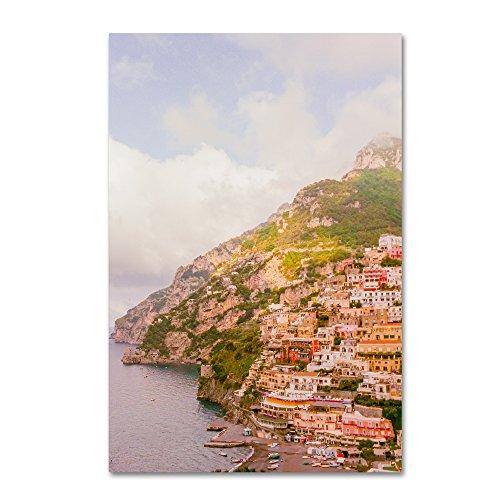 Positano Amalfi Coast 3 by Ariane Moshayedi, 16x24-Inch Canvas Wall Art