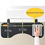Ergonomic Keyboard Wrist Rest Mount Tray with Mouse Pad Under Desk Desk Extender