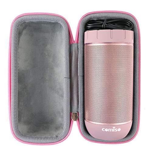 Hart Reise Schutz Hülle Etui Tasche für COMISO Wasserdicht Bluetooth Lautsprecher Kabellose Portabler 12W Lautsprecher von co2CREA (Roségold)