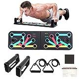 KIKILIVE 9 en 1 Push Up Rack Board,Ejercicio Multifunción Entrenamiento Muscular, Plegable Push Up Tabla Board Fitness Entrenamiento Gimnasio Ejercicio Stands para el Aptitud