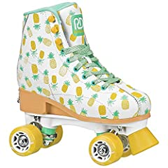 EZ Twist Knob adjusts up to 4 full children's sizes (Small 12J to 2) or (Medium 3 to 6) Hightop boot design with great ankle support and comfortable padded lining High impact chassis with PU Cushions for shock absorption and controlled turning Fast a...