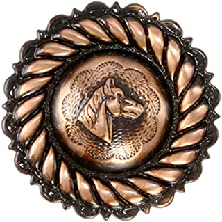 Scarf Slide Rope Edge Horse Head Concho 1 1/2