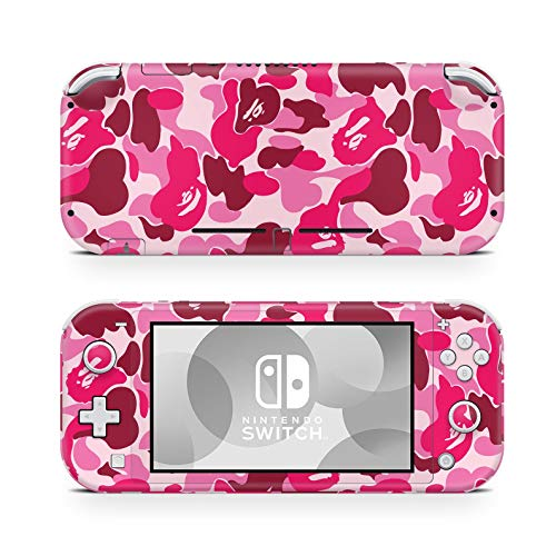ZOOMHITSKINS Switch Lite Skin Decal Stickers, Babe Camo Secrete Purple Girl Baby Pink Camouflage Ruby Blush Rose Scarlet Cherry, High Quality, Durable, Bubble-free, Goo-free, 1 Console Skin, USA Made
