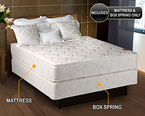 Legacy Medium Firm Full Size (54'x75'x7') Mattress and Box Spring Set...