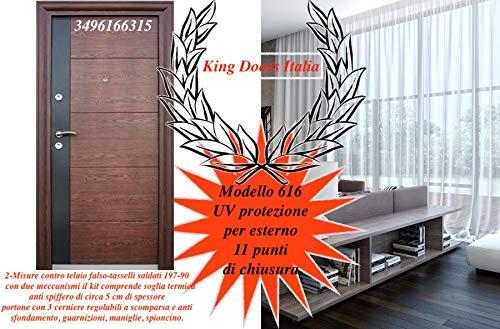 doors Porta portone blindato per Esterno casa MOD 616