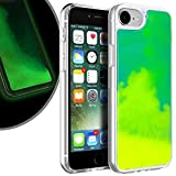 VenSen Liquid Fluorescent Case for Apple iPhone SE 2020 SE2 /iPhone 8 Case/iPhone 7 Case Soft TPU Luxury Glow in The Darkness Noctiluncen Luminous Neon Sand case Fit iPhoneSE2 iPhone8 Iphone7 (Green)