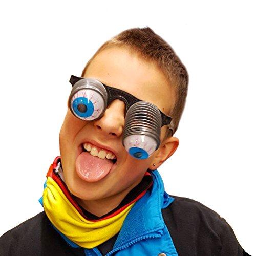 Oblique Unique® Augenbrille Gagbrille Pop Out Fasching Karneval Kinder Brille