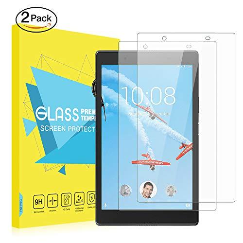 MoKo Lenovo Tab 4 8 Protector de Pantalla [2 PCS] - [Rasguño Terminador] Premium HD Claro Dureza 9H Vidrio Templado Protector de Pantalla de Película para Tab 4 8 Pulgadas Tableta, Cristal Claro