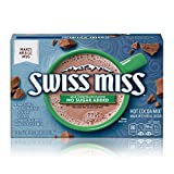 Swiss Miss Milk Chocolate Flavor No Sugar Added Hot Cocoa Mix, 0.73 oz. 8-Count (Pack of 12)