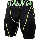 YiiJee Uomo Sportivi Shorts Compressione Asciugatura Veloce Base Layer Fitness Pantaloni Corta Come...