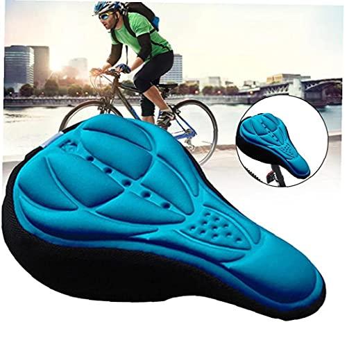 Sillín de bicicleta de espuma suave cómodo montar de la bici MTB de una silla con Amortiguador de herramientas de la silla de montar de ciclo de accesorios azul al aire libre