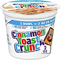 12-Pack Cinnamon Toast Crunch Cereal, 2-Oz Cups
