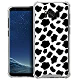 CasesOnDeck Case Compatible with [Samsung Galaxy S8+ | S8 Plus TPU Case] S8+ Case, Slim Transparent Flexible TPU Cover with Bump and Drop Corner Protection (Cow Print)