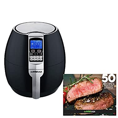 GoWISE USA 3.7-Quart Air Fryer w/ 8 Cook Presets (Black 1)