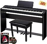 Casio Privia PX-160 Digital Piano - Black Bundle with CS-67 Stand,...