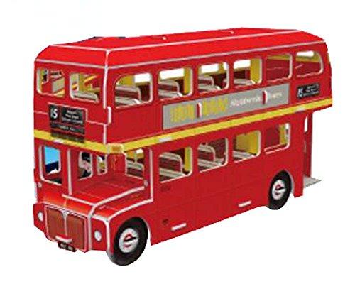 Black Temptation Casse-tête créatif d'autobus à Deux étages pour des Jouets d'enfants Casse-tête stéréo