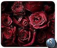 赤いバラバラの花暗い背景14898マウスパッドファッションマットマウスパッドファッションホットギフト