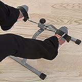 Wakeman Pedal de fitness portátil para debajo del computadora, máquina de ejercicio interior para brazos, piernas, terapia física o quemador de calorías