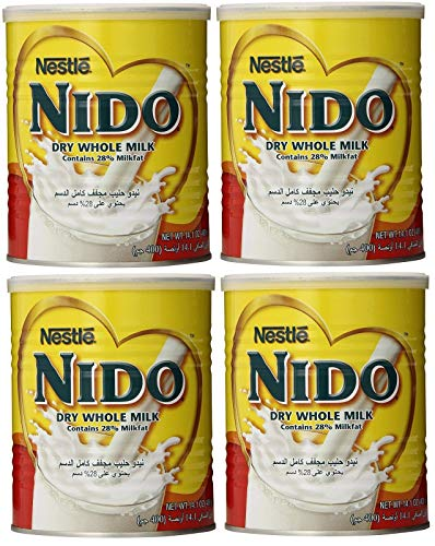Nido Dry Whole Powder Milk by Nestle - 4 Cans - 400Gr - ???? ???? ???? ???? ?????