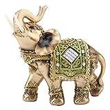 象の彫刻ラッキーコレクティブル 装飾 贈り物 素敵な富の置物(L)