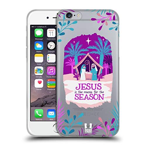 Head Case Designs Belén Feliz Navidad Carcasa de Gel de Silicona Compatible con Apple iPhone 6 / iPhone 6s