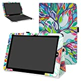 Mama Mouth Chuwi Hi12 hülle, Folding Ständer Hülle Case mit Standfunktion für 12' Chuwi Hi12 Windows 10 & Android 5.1 Dual System Tablet PC,Love Tree