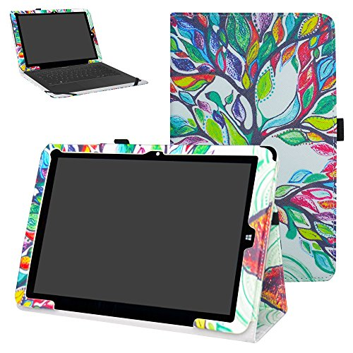 """Mama Mouth Chuwi Hi12 hülle, Folding Ständer Hülle Case mit Standfunktion für 12\"""" Chuwi Hi12 Windows 10 & Android 5.1 Dual System Tablet PC,Love Tree"""