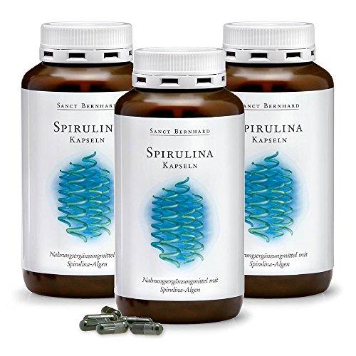 Spirulina-Kapseln mit naturbelassenen Spirulina-Mikroalgen 1080 Kapseln