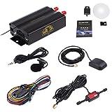 Kingwo TK103A - Rastreador GPS GPS GPRS SMS para coche, alarma de coche, robo de vehículos de sistema de protección, en tiempo real del sistema de seguimiento del dispositivo