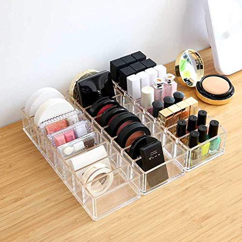 TYWZJ Clear Acrylic Cosmetic Organizer Make-up Schubladen Halter Fall Schmuck Aufbewahrungsbox für Badezimmer Schubladen Waschtische Arbeitsplatten Schreibtisch