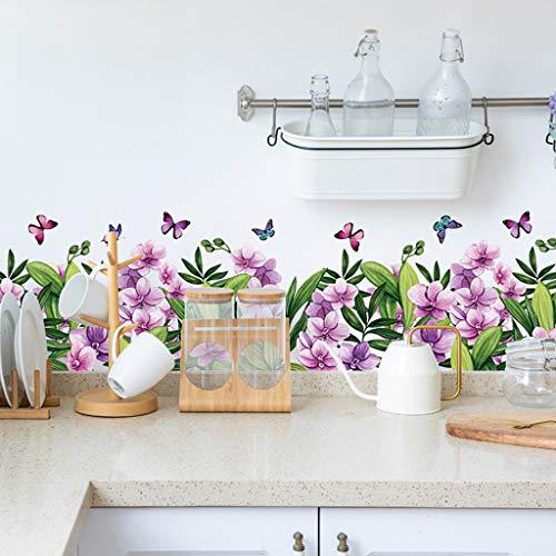 Pegatinas de pared, diseño de flores de inyección de tinta, 50 x 70 cm, decoración de papel pintado, Pascua