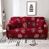 Funda de sofá de Sala de Estar con patrón Simple, Funda de sofá Lavable a Prueba de Polvo elástica Floral, sofá Cama A22 de 3 plazas