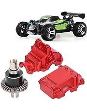 Equipo de coche RC, juego de piezas de engranajes de piñón con paquete de tornillos de engranaje recto de metal para coche de control remoto WLtoys 144001 1/14