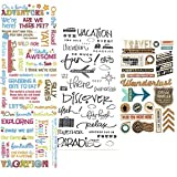 PaperPassion - Travel & Adventure, Scrapbook Stickers | Wanderlust Adventure Stickers / Travel Scrapbook Stickers | Perfect for Scrapbooking, Card Making, Journals, Water Bottle Stickers & Planner Stickers