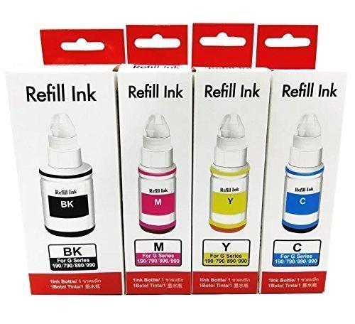 Kit 4 Refil De Tinta Canon Gi-190 G2100 G3100 G3102-345ml