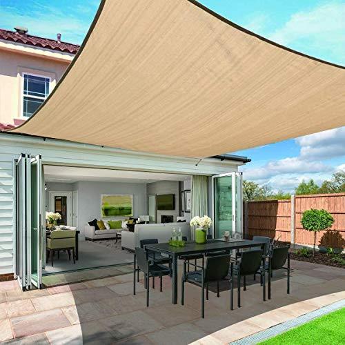 PYXZQW UV Resistant Sun Shade Outdoor Garden Patio Sunscreen Awning Canopy Shade Cloth,4x5m