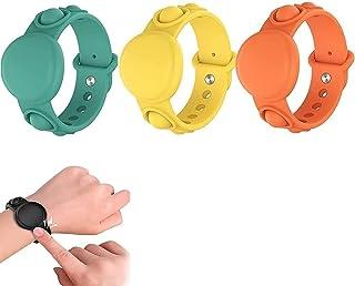 Hengyuan Bracelet de Protection en Silicone pour Apple Airtag, soulagement du Stress et de l'anxiété, localisateur de Brac...