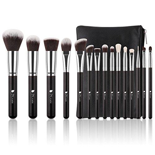 DUcare Make Up Pinsel Set 15 Stücke mit Kosmetiktasche Professionelle Schminkpinsel Set Premium...