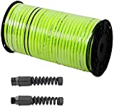 Legacy Manufacturing Flexzilla 100' x 5/8' Premium Garden Watering Hose with Male and Female Hose End Fittings (Bundle, 3 Items)