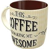 Nostalgic-Art Retro Kaffee-Becher - Word Up - Awesome Coffee, Lustige große Retro Tasse mit Spruch,...