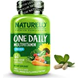 NATURELO One Daily Multivitamin for Men - with Vitamins & Minerals + Organic Whole Foods - Supplement to Boost Energy, General Health - Non-GMO - 60 Capsules | 2 Month Supply
