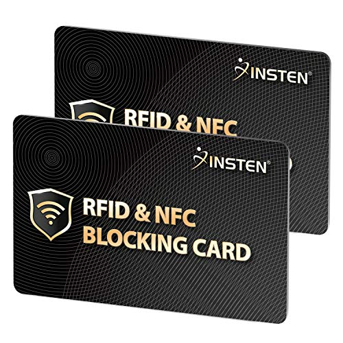 2 x RFID Blocking Card, One Card Protects Entire Wallet Purse Clutch Shield, NFC Contactless Bank...