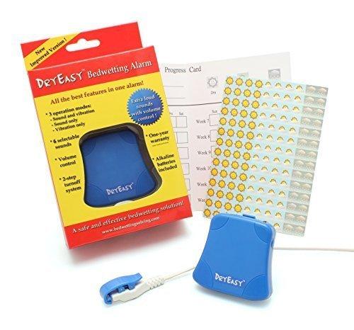 DryEasy Nueva mojar la Cama Alarma con Control de Volumen, 6 seleccionables Sonidos y Vibraciones 🔥