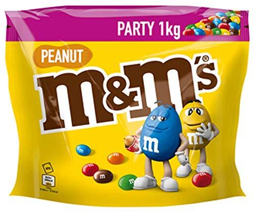 M&M\'S Peanut, Schokoladenlinsen mit Erdnusskern, Party Großpackung, 1kg
