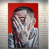 Qwgykr Mac Miller Music Singer Art Canvas Poster Picture Para La Decoración De La Pared De La Sala De Estar Impresión En Lienzo-50X70Cm Sin Marco