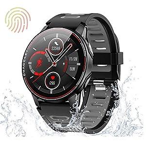 AMYSPORTS 多機能 スマートウォッチ 腕時計 日本語 最新 心拍計 スマートウォッチ フルタッチスクリーン 歩数計 line通知 gmail 着信通知 ios android対応 防水 2020モデル メンズ レディース スマートブレスレット