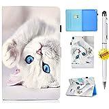 KSHOP Compatible avec Coque Samsung Galaxy Tab S6 10,5 Pouces T860n / Samsung Galaxy Tab S6 T860 (10,5 Pouces) Case Cover Housse Étui Stylet Tactile Chat