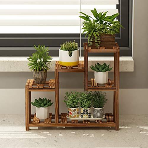 CQ bureaublad bloem standaard massief hout woonkamer vensterbank vlezige bloem rack meerlagige mini office tafel kleine bloem standaard wit rek