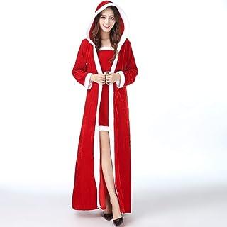 MEI XU Christmas Costume - Adult Christmas Dress Christmas Girl Cosplay Set Plus Fat Flocking Christmas Woman Large Size C...